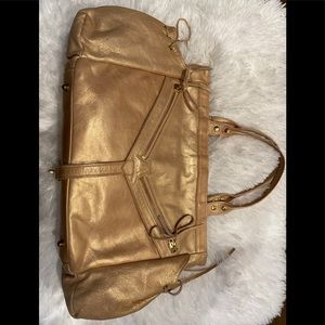 Botkier iridescent rose gold/champgne shlder bag